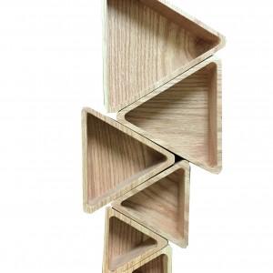 کاسه تمام چوبی مثلثی _ B کد 141102