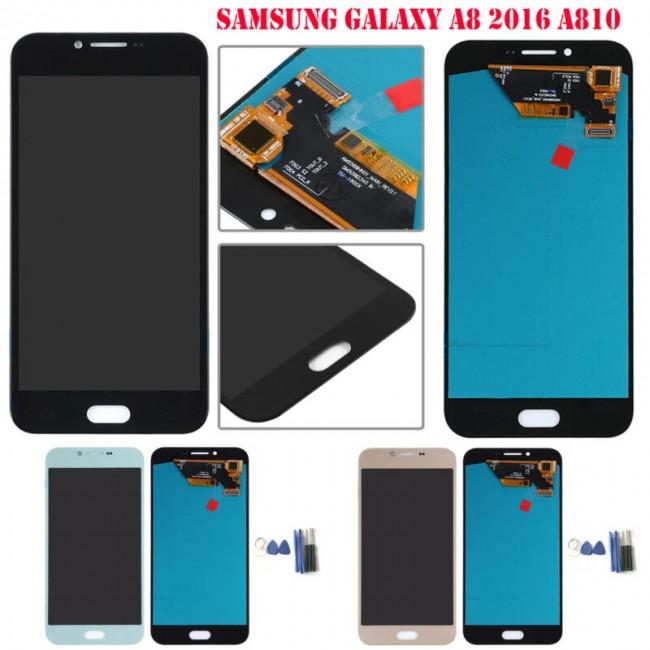 تاچ و ال سی دی شرکتی سامسونگ lcd samsung A8 2016 A810