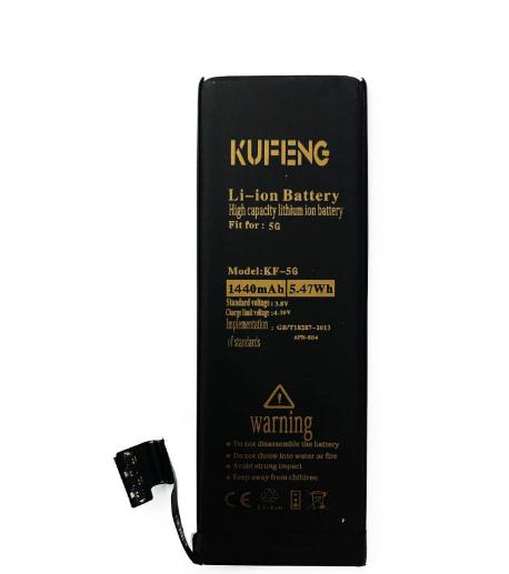 باتری تقویتی ایفون 5 جی کوفنگ / battery iphone 5G ku feng/ battery KF 5G