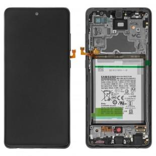 LCD SAMSUNG ORG A72 5G - A726 / A72 4G - A725 / تاچ و ال سی دی شرکتی با فریم و باطری سامسونگ A72 - A725