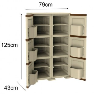 کد1143جاکفشی 3طبقه 2 درب وندیک – Asia Venedik Shoes Cabinet