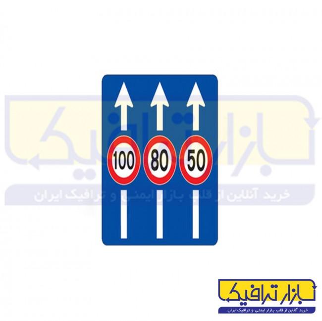 تابلو حداكثر سرعت در خط هاي عبور 40*100