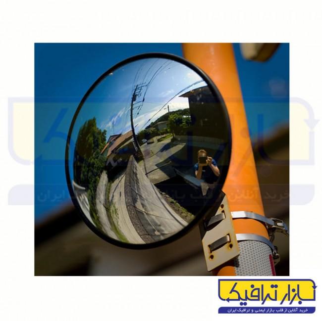 آینه محدب ترافیکی بدون فریم شیشه ای قطر 60