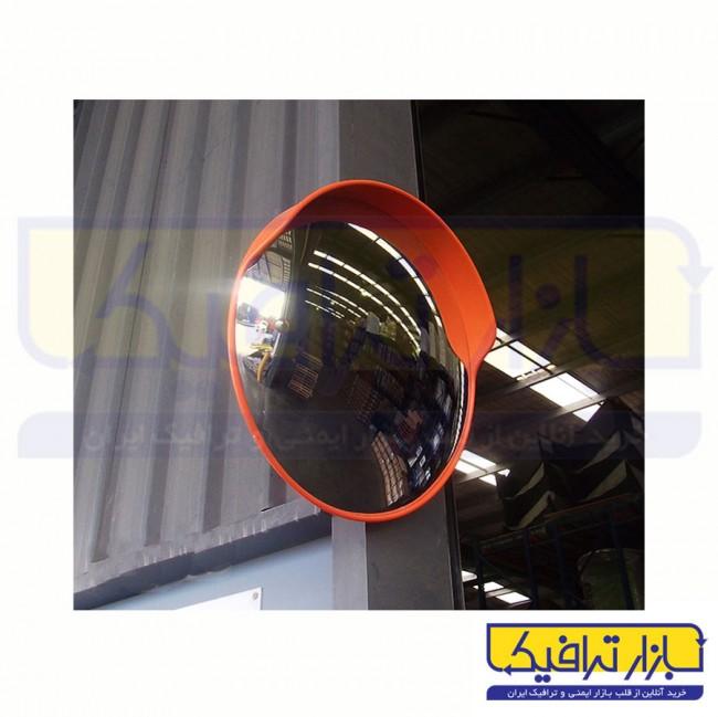 آینه محدب ترافیکی فریم دار شیشه ای قطر 100