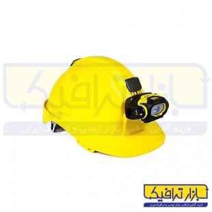 کلاه ایمنی غارنوردی کاترپیلار چراغ دار