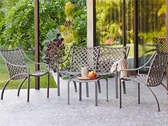 میز و صندلی فلزی ویلایی