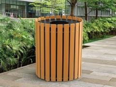 سطل های زباله چوبی پارکی