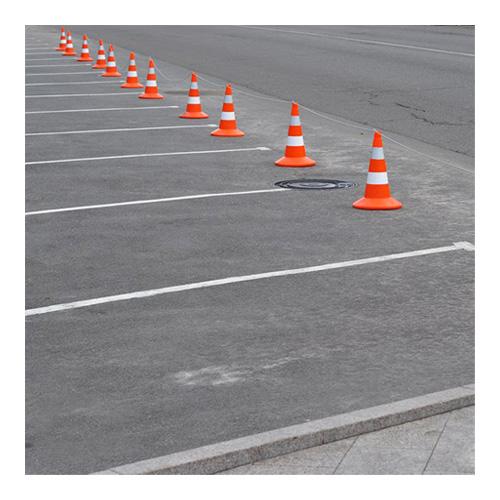 بررسی و خرید مخروط ترافیکی حلقه دار 75 سانتی متری