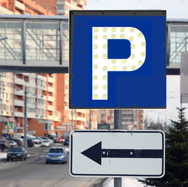 فروشگاه اینترنتی بازار ترافیک-خرید و فروش تابلو ال ای دی پارکینگ برقی