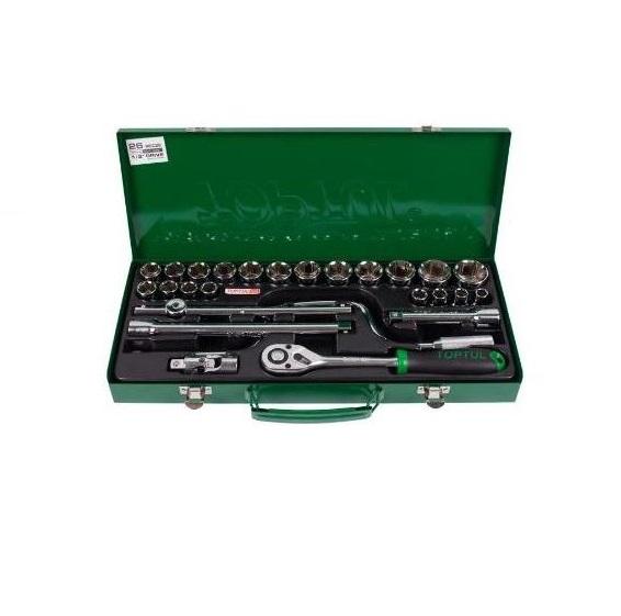 جعبه بکس 26 پارچه 1/2 اینچ 6 پر تاپ تول TOPTUL مدل GCAD2607