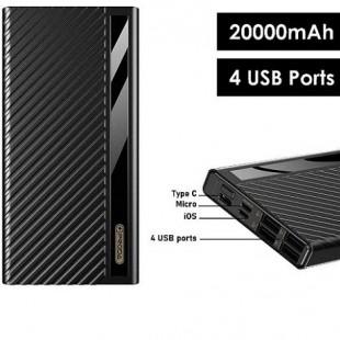شارژر همراه پرودا مدل PD-P26 ظرفیت 20000 میلی آمپر ساعت