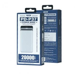 شارژر همراه پرودا مدل PD-P37 ظرفیت 20000 میلی آمپر ساعت