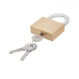 قفل آویز گیرا برنجی 75 تخت مدل 006