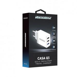 شارژر دیواری راک رز مدل Casa Q3