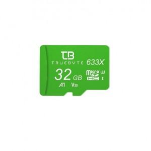 کارت حافظه microSD HC تروبایت مدل 633X-A1-V30 کلاس 10 استاندارد UHS-I U3 ظرفیت 32 گیگابایت همراه با کارت خوان