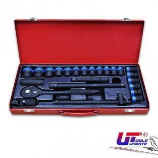 جعبه بکس 24 پارچه فشار قوی مشکی درایو 1/2 Ultimate Tools آلمان