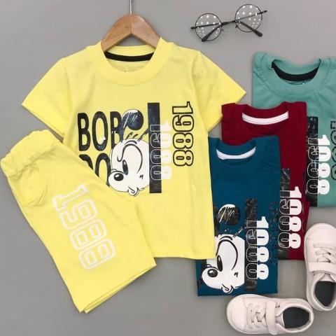 تیشرت و شلوارک بچه گانه پسرانه مدل Bob Dog