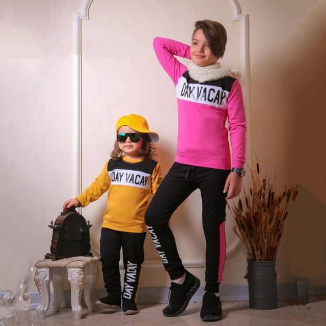 بلوز شلوار اسپرت پاییز و زمستانی بچگانه مدل day
