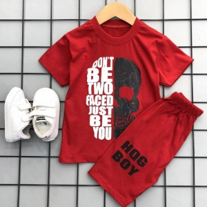 تیشرت و شلوارک پسرانه قرمز