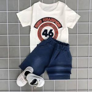 خرید بلوز شلوارک جین برای بچه
