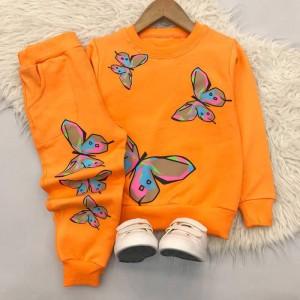 بلوز شلوار دخترانه مدل پروانه رنگی