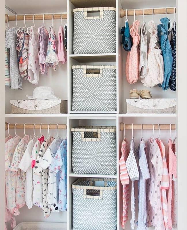نظم دهي و ایده جالب برای مرتب كردن كمد لباس
