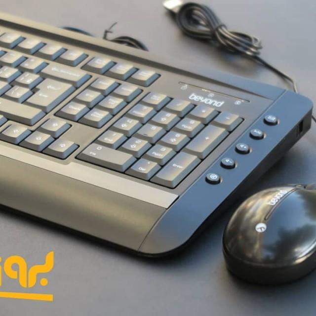 کیبورد و ماوس باسیم بیاند مدل BMK-6141 با حروف فارسی