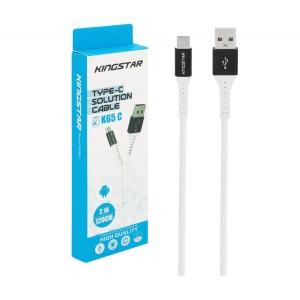 کابل تبدیل USB به USB-C کینگ استار مدل K65C طول 1.2 متر