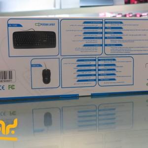 کیبورد و ماوس سادیتا مدل SKM-1554 با حروف فارسی