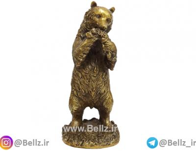 مجسمه خرس برنزی