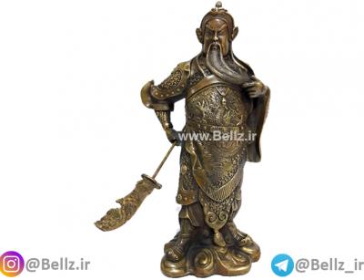 مجسمه پادشاه جنگجو برنزی