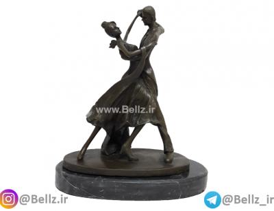 مجسمه زن و مرد بالرین برنزی (۱)