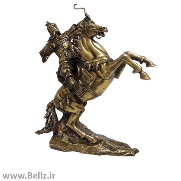 مجسمه سوار جنگجو برنز (طرح ۳)