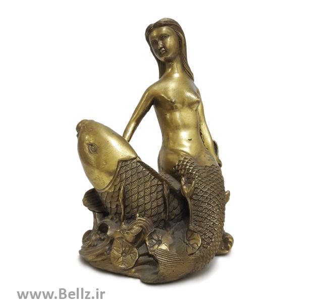 مجسمه پری دریایی برنز