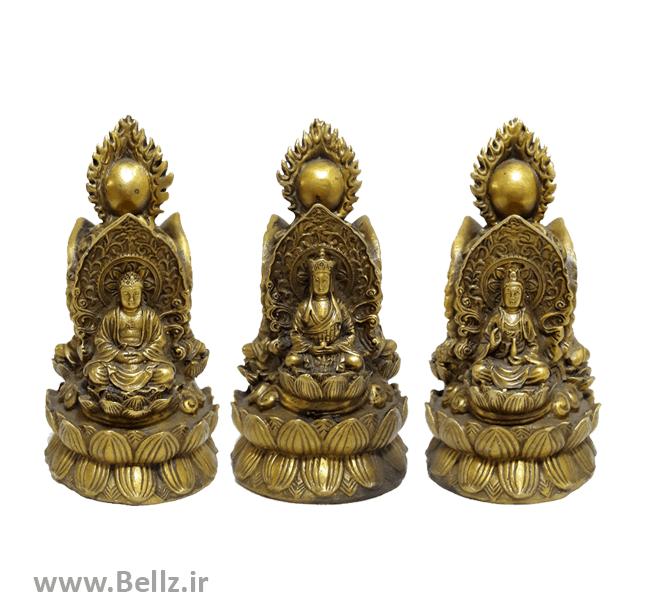 مجسمه بودا برنز (شیوا) ۳ رخ