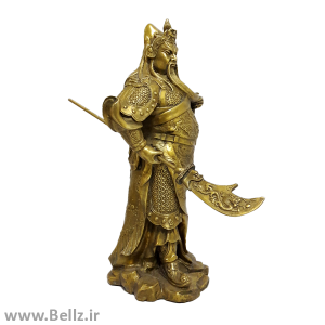 مجسمه پادشاه جنگجو برنزی - کد (۴)
