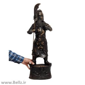 مجسمه پادشاه جنگجوی برنزی - کد ۵