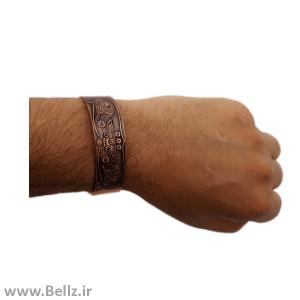 دستبند مسی  (طرح فروهر هخامنشی)