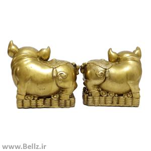 مجسمه جفت خوک برنزی - نماد سال تولد