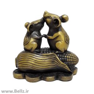 مجسمه جفت موش روی ذرت - کد۳