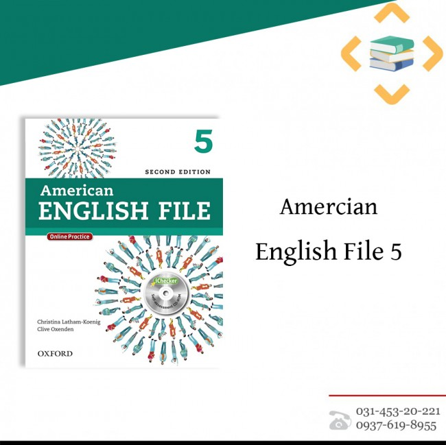American English File 5 + Student Book+work book+ CD + DVD
