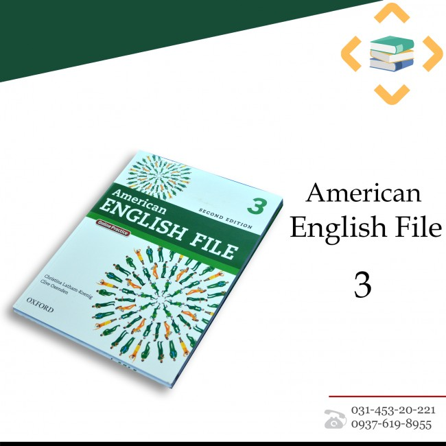 American English File 3+Student book+Work book+CD+DVD