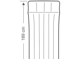 تشک بادی کمپینگ یک نفره اینتکس عرض 72