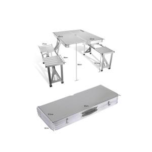 میز و صندلی مسافرتی تاشو چانوداگ مدل 4 نفره