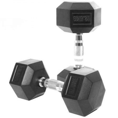 دمبل بدنسازی شش ضلعی وزن 12/5 کیلوگرم بسته 2 عددی