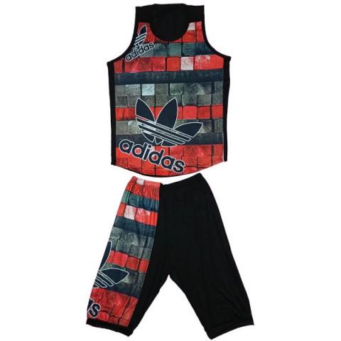 ست تاپ و شلوارک ورزشی مردانه کد adidas | A9