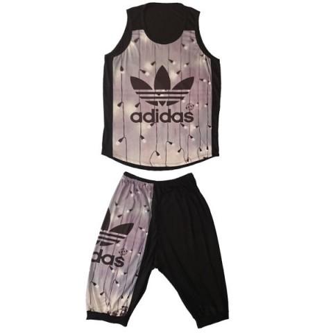 ست تاپ و شلوارک ورزشی مردانه کد adidas | A13