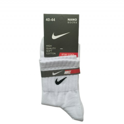 جوراب نیم ساق مردانه رنگ سفید- نایکی