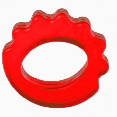 حلقه تقویت مچ ساده مدل AIDIN رنگ قرمز