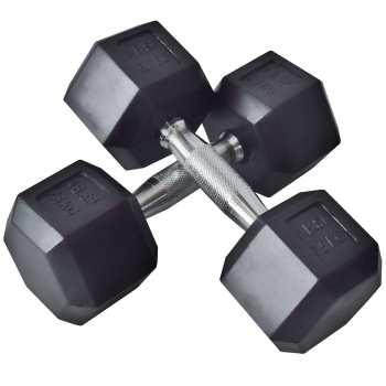دمبل بدنسازی شش ضلعی وزن 5 کیلوگرم بسته 2 عددی